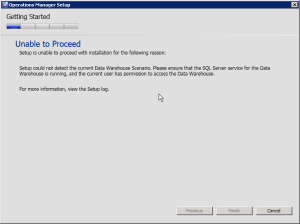SCOM 2012SP1 Installation Error