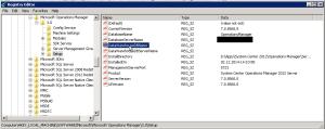 SCOM 2012SP1 Upgrade - Regedit